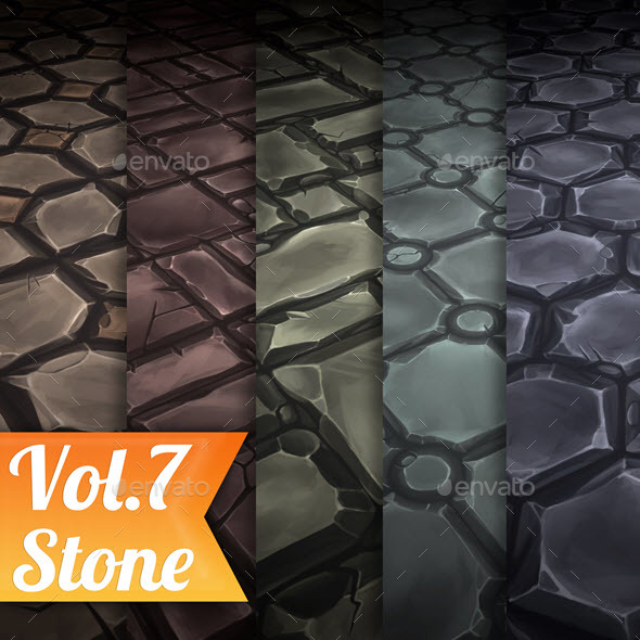 3DOcean Stone Tile Vol.7 Hand Painted Texture Pack 21107806
