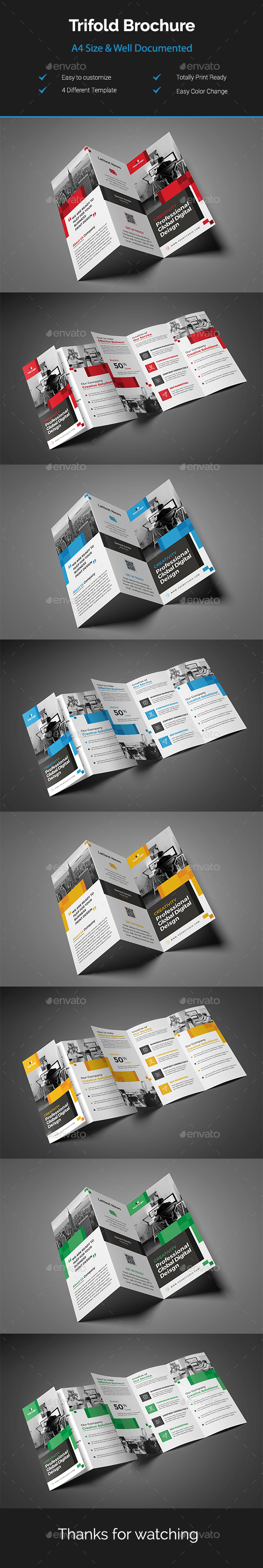 GraphicRiver Trifold Brochure 21107836