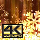 Dark Gold Christmas Snowflakes 4K - VideoHive Item for Sale
