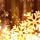 Dark Gold Christmas Snowflakes - VideoHive Item for Sale