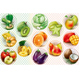 Rings with Fruits and Vegetables - GraphicRiver Item for Sale