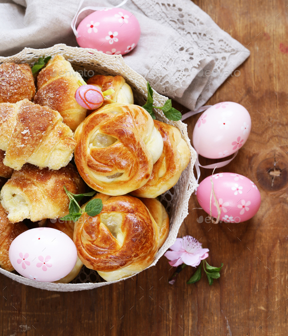 Easter Buns - Stock Photo - Images