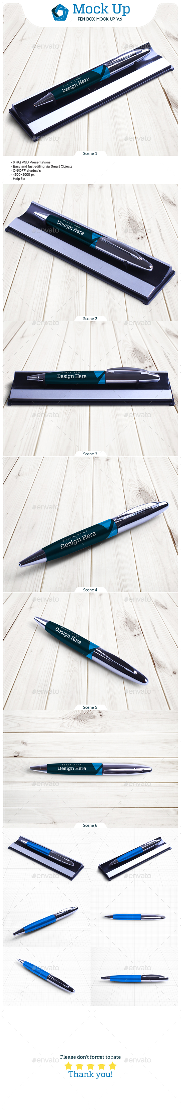 GraphicRiver Pen Box Mock Up V.8 21108010