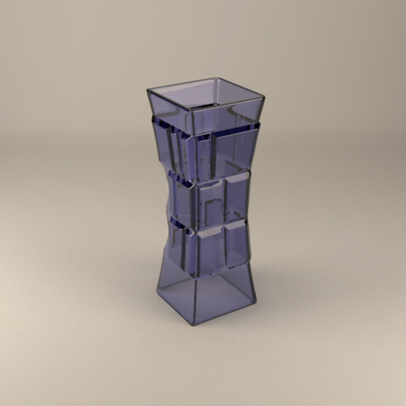 Tower vase - 3DOcean Item for Sale