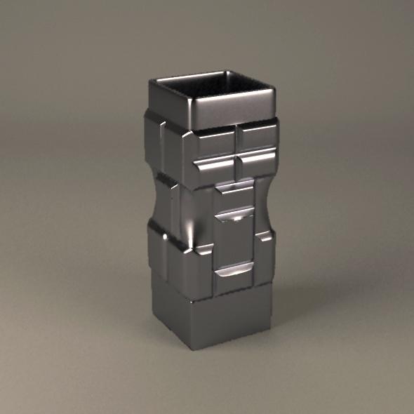 3DOcean Brick metal vase 21108027