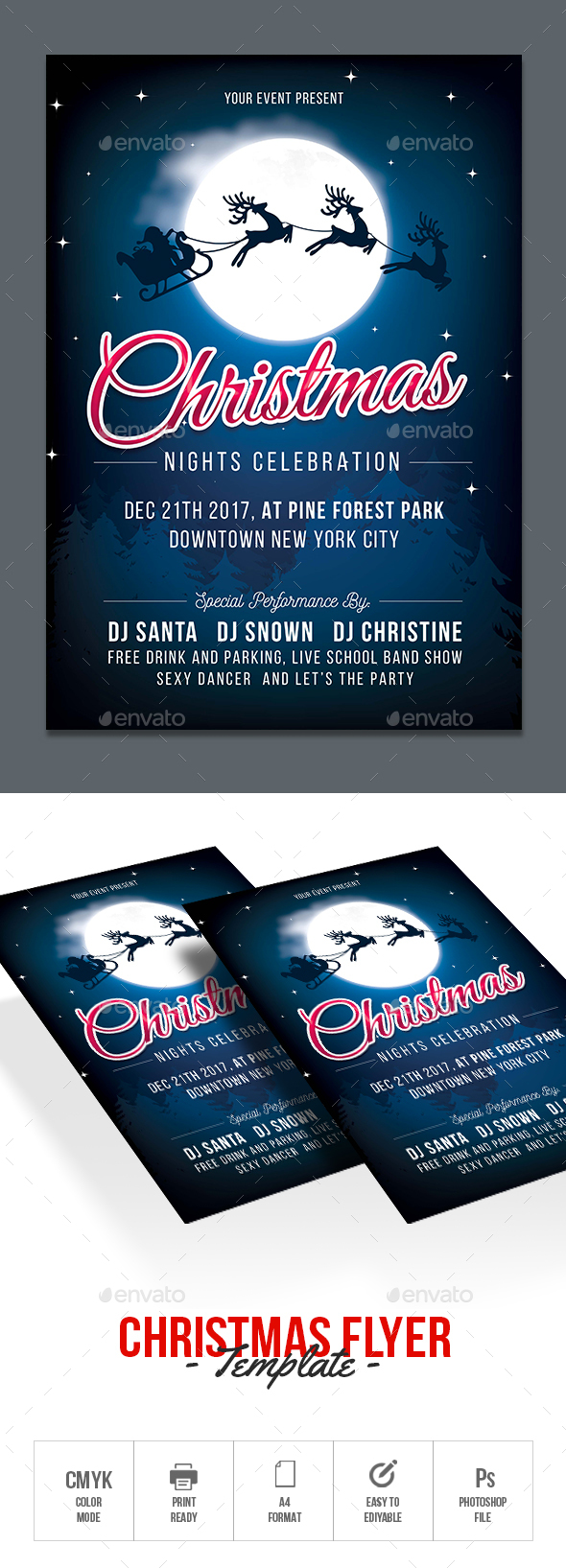 GraphicRiver Christmas Flyer 21108131