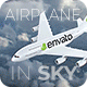 Airplane in the Sky - VideoHive Item for Sale