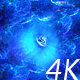 Flying Through Abstract Blue Space Tunnel of Nebulae to Big Blue Star - VideoHive Item for Sale