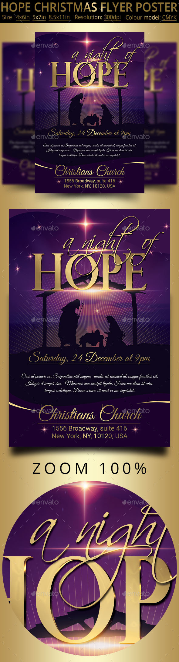 GraphicRiver Hope Christmas Flyer Poster 21108393