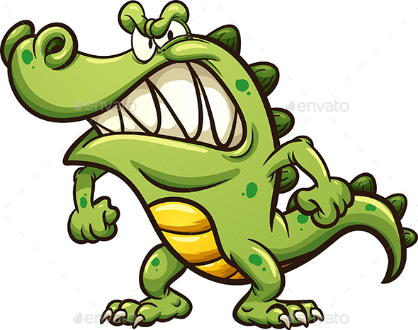 GraphicRiver Angry Cartoon Crocodile 21108507