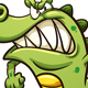 Angry Cartoon Crocodile - GraphicRiver Item for Sale
