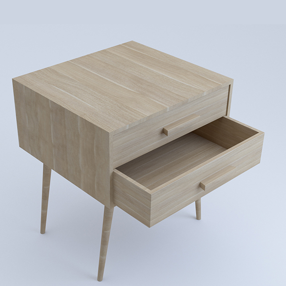 Small Desk with draw - 3DOcean Item for Sale