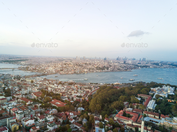 The view from the flight to Istanbul. - Stock Photo - Images
