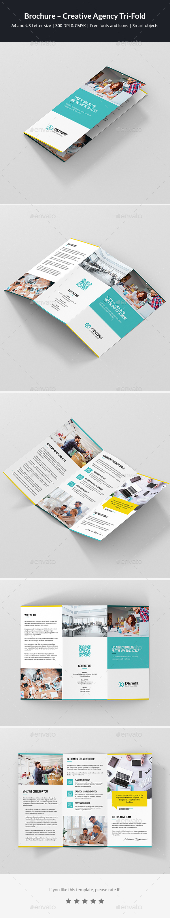 GraphicRiver Brochure Creative Agency Tri-Fold 21108557