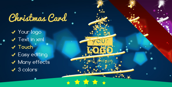 Christmas Card Elegant Lights 2 nulled free download