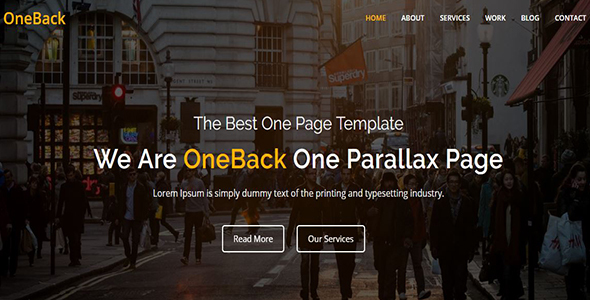 Image of Oneback - One Page Parallax