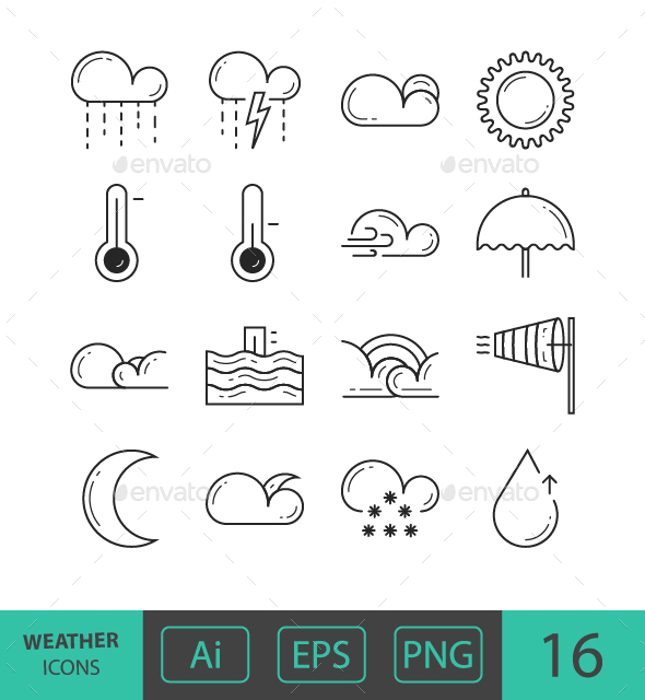 GraphicRiver Weather Icons 21108743