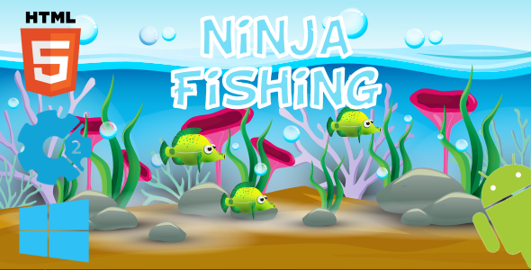 CodeCanyon Ninja Fishing HTML5 Game 21108822