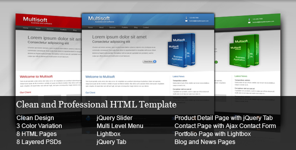 Multisoft – Clean and Professional HTML Template