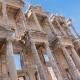 Facade of Ancient Celsius Library in Ephesus , Turkey