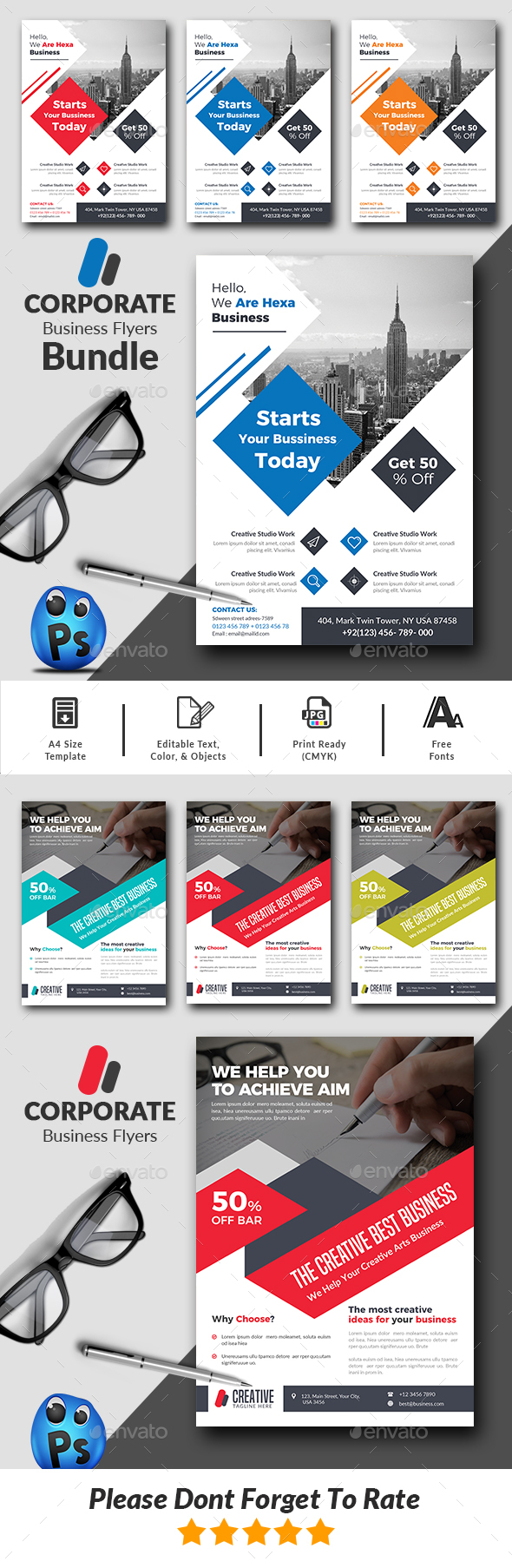GraphicRiver Corporate Business Flyers Bundle 21108961
