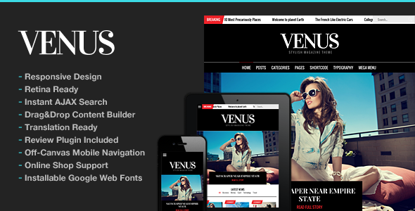 Venus | Magazine WordPress for Magazine - News / Editorial Blog / Magazine