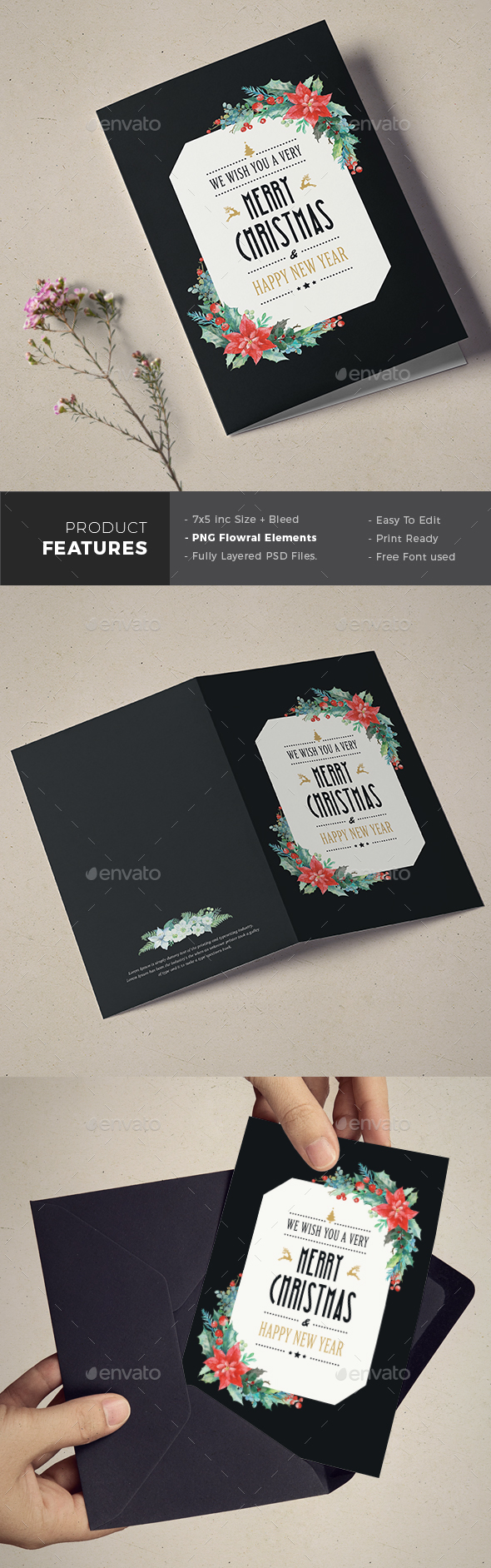 GraphicRiver Christmas Invitation & Greeting Card 21109072