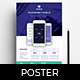 A4 Mobile App Poster Template v2 - GraphicRiver Item for Sale