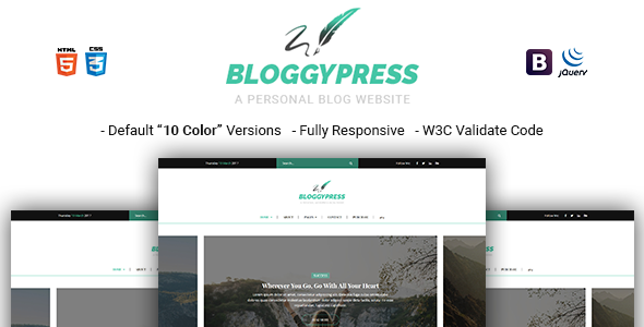 Download BloggyPress | Responsive Personal Blog HTML5 Template            nulled nulled version