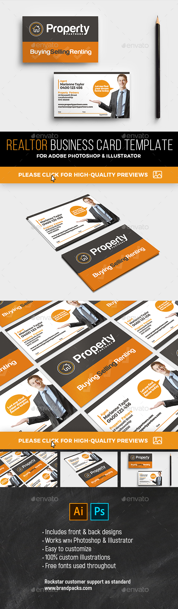 GraphicRiver Realtor Business Card Template 21101623