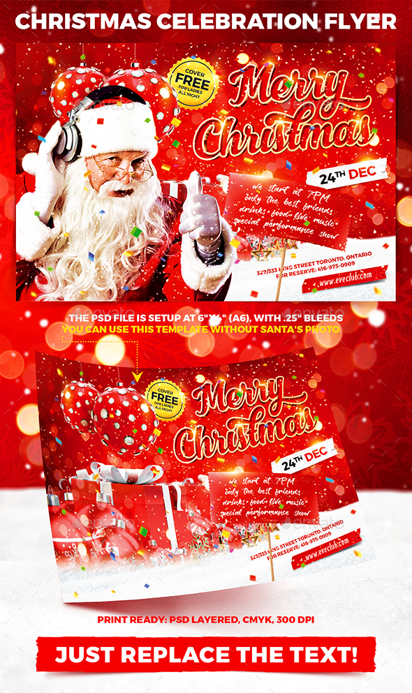 GraphicRiver Christmas Celebration Party Flyer vol.2 21109194
