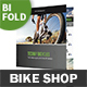 Bicycle Shop Bifold / Halffold Brochure