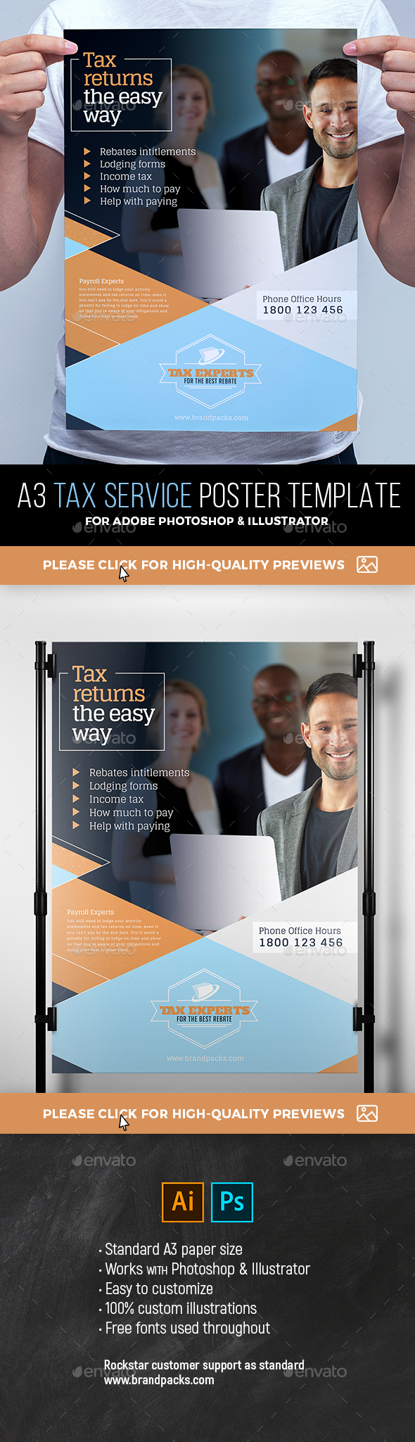 Tax Service Poster Template - Corporate Flyers