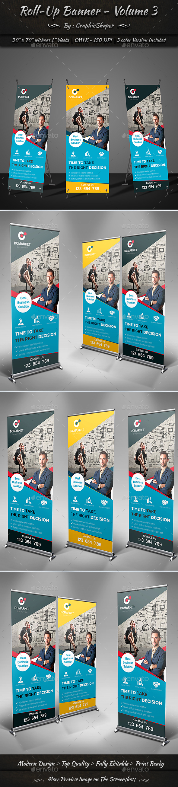 Roll-Up Banner | Volume 3 - Signage Print Templates