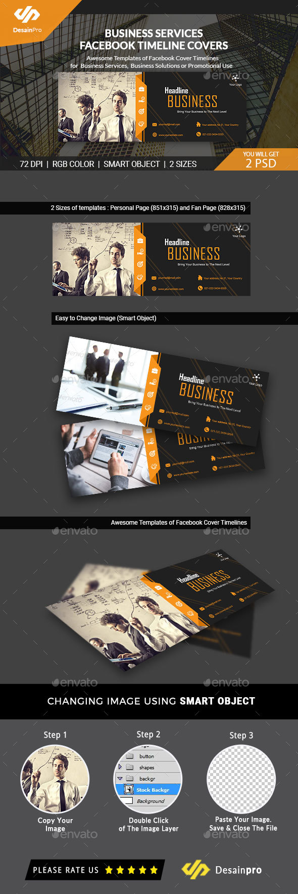Business Solutions FB Cover Timeline - AR - Facebook Timeline Covers Social Media