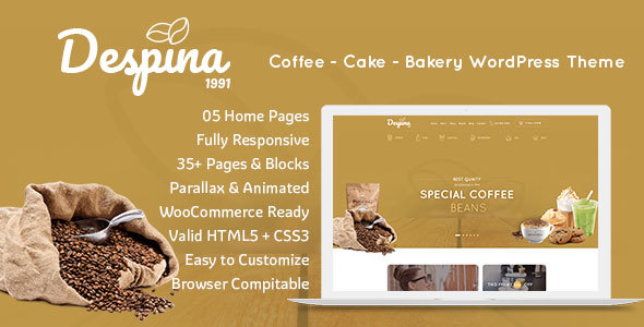 Image of Despina - Coffee, Cake & Restaurant WordPress Theme