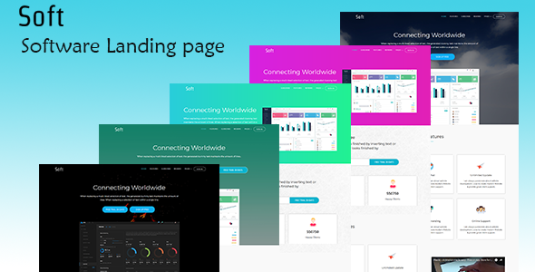 Image of Soft – Software Landing Page