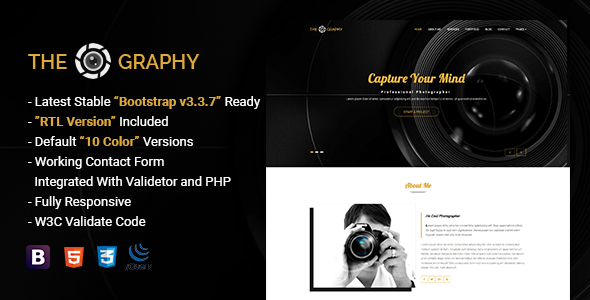 TheGraphy | Responsive Creative Photography HTML5 Template