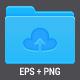 Set of Cloud Folder Icons