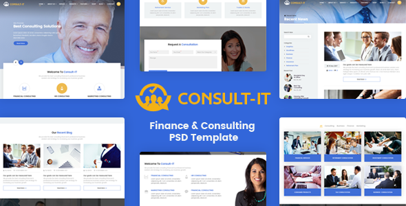 ConsultIt – Consulting & Finance PSD Template