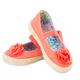 Baby girl orange fabric sneakers. - PhotoDune Item for Sale