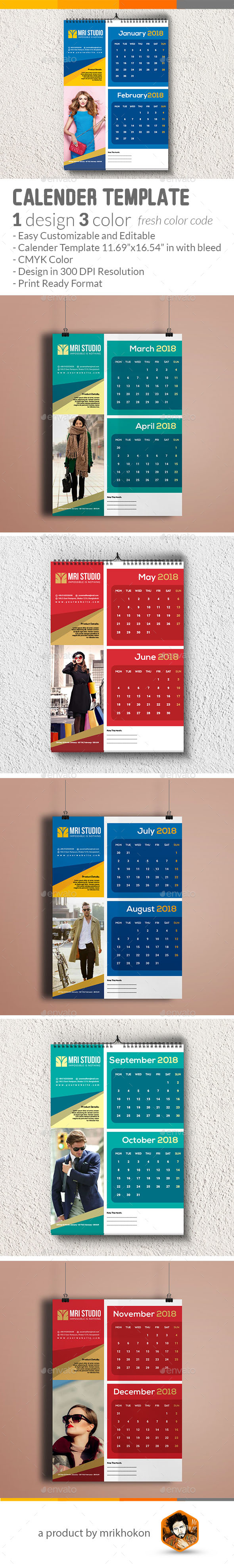 GraphicRiver Wall Calendar 21109646