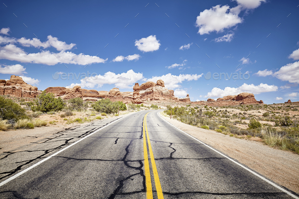 Scenic road, travel concept picture. - Stock Photo - Images