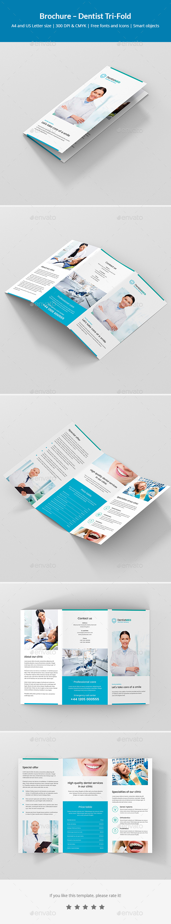 GraphicRiver Brochure Dentist Tri-Fold 21109660