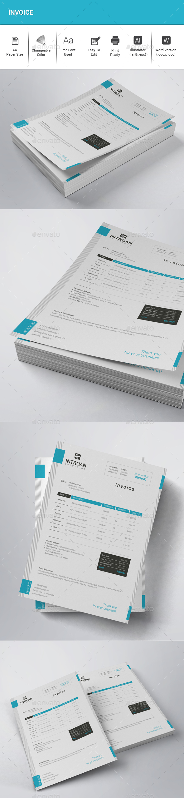 GraphicRiver Invoice 21109680