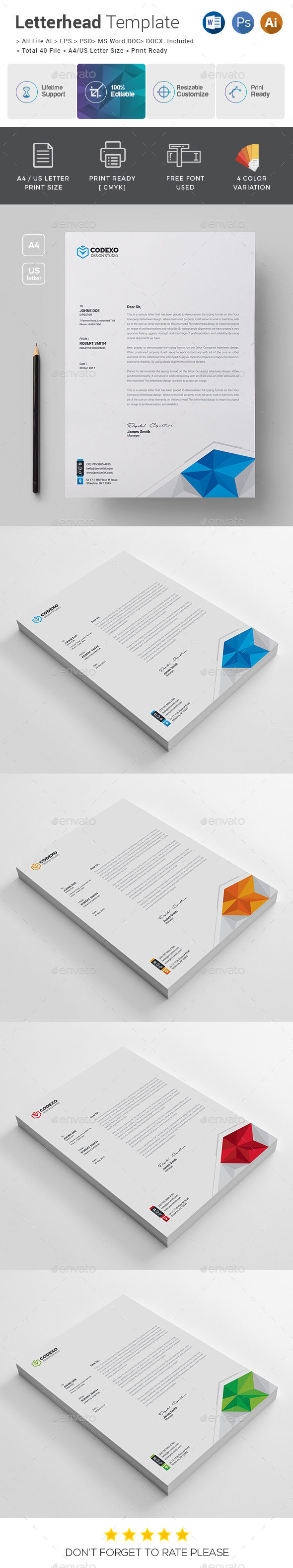 GraphicRiver Letterhead Template 21109785