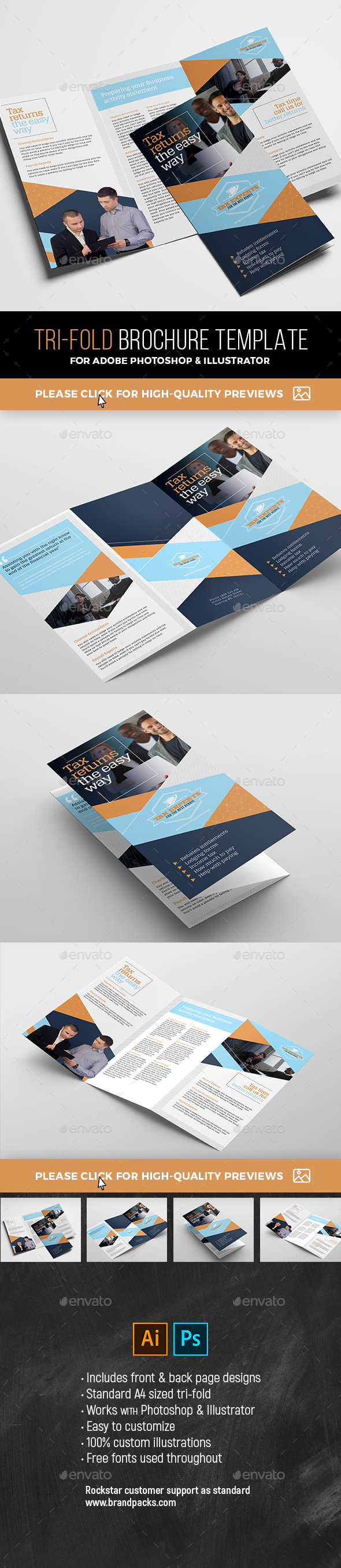 GraphicRiver Tri-Fold Brochure Template 21109843