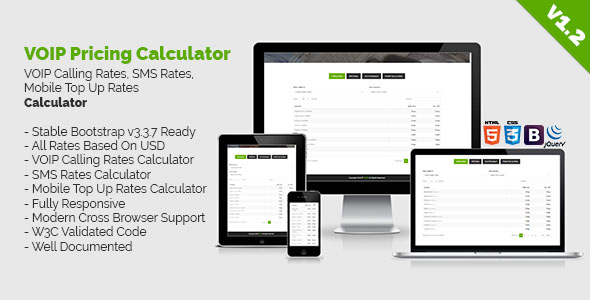 VOIP Pricing Calculator | VOIP Calling Rates, SMS Rates, Mobile Top Up Rates Calculator - CodeCanyon Item for Sale