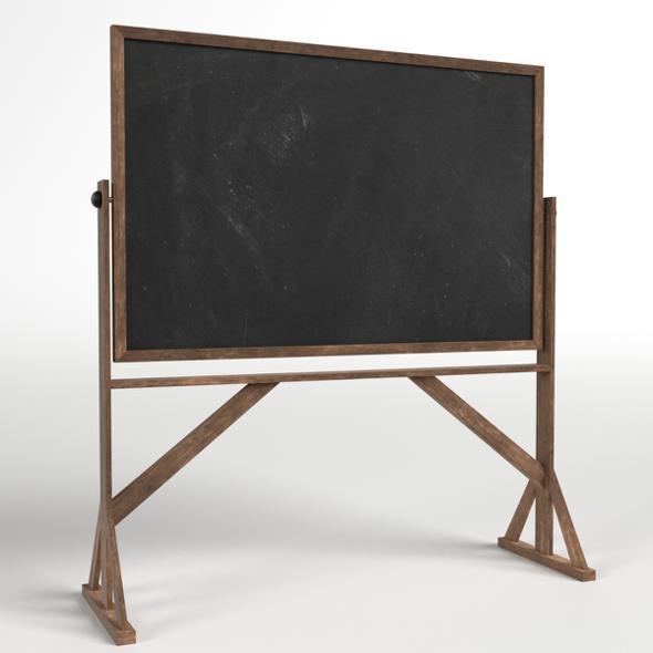 Reversible Freestanding Chalkboard - 3DOcean Item for Sale