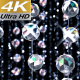 Crystals Curtain 4K - VideoHive Item for Sale
